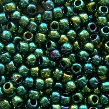 Toho 8/0 Seed Beads Higher Metallic June Bug 506 - 10 grams
